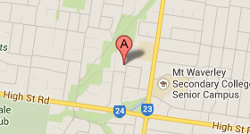 Map of Opticare Mt Waverley Address